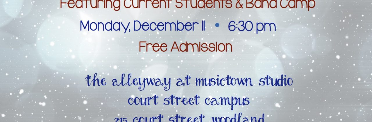 Musictown Studio presents Winter Recital 2017